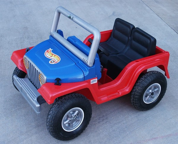 Junky Jeep II With Cool Rubber Tire Conversion, Click the Power Wheels Modification Button to Order a CD